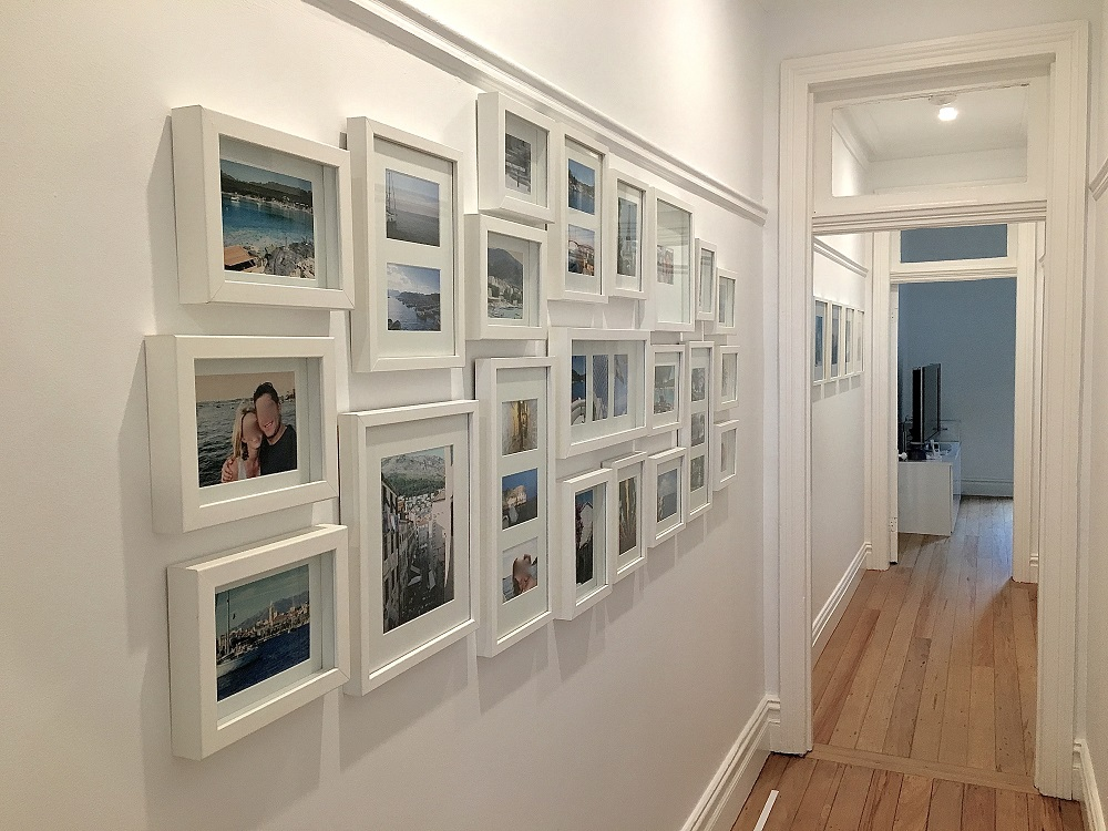 Feature wall family photo gallery composition, Picture hanging, Art and Picture Hanging Sydney, Salon wall, Salon hanging wall, Salon picture hanging style, Salon style hanging wall, picture hanging Sydney